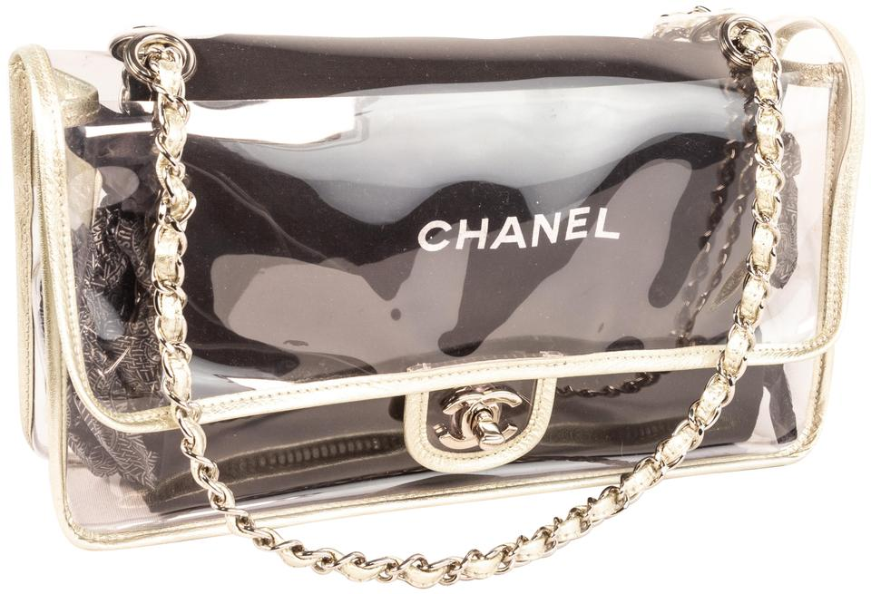 fa937265c071 Chanel Classic Flap 2.55 Reissue Clear Single with Hardware Silver ...