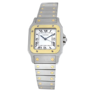 Cartier Authentic Ladies Unisex Cartier Santos Galbee Date 18K Gold Automatic