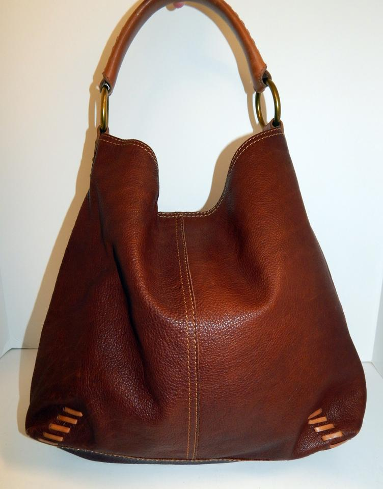 Lucky Brand Whipstitch Leather Hobo Bag Image 11. 123456789101112 9c2ea40834ed7