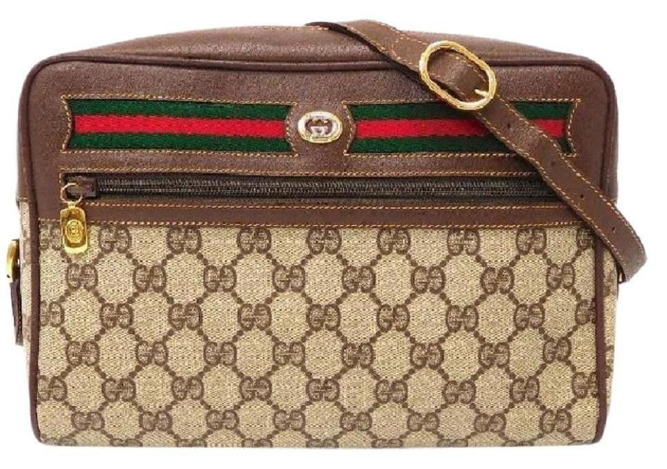 809f815df0a Gucci Shoulder Cross Accessory Col Popular Style Excellent Vintage Lots Of  Pockets Cross Body Bag ...