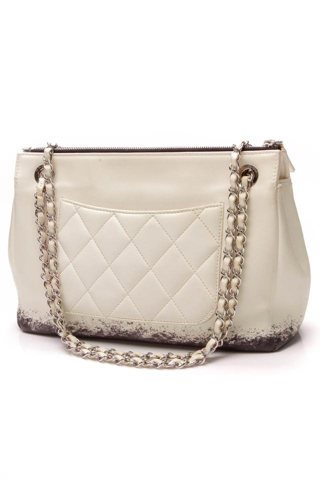 3beadea68994 Chanel Classic Flap Blizzard Zip Top Jumbo Beige Lambskin Leather Shoulder  Bag - Tradesy
