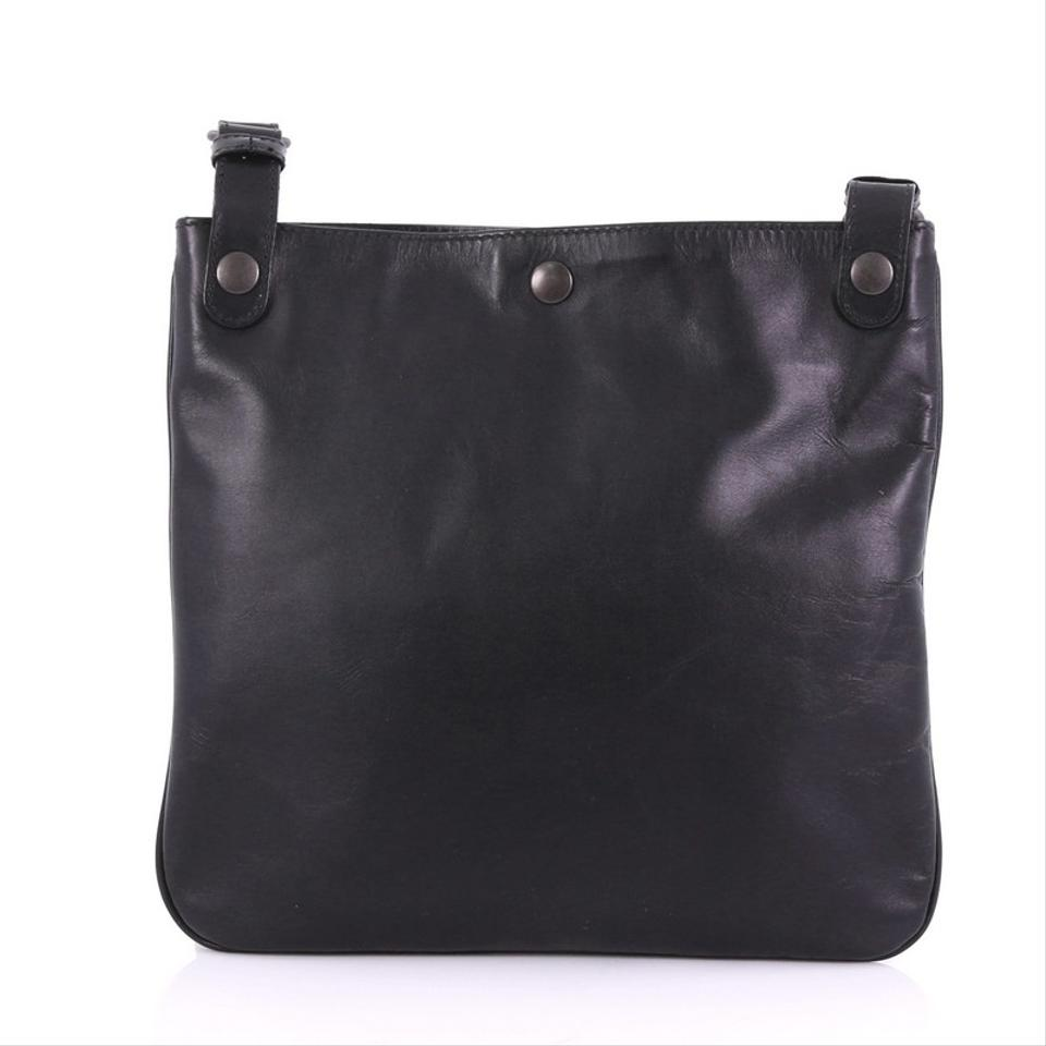 ce1a8406a1 Bottega Veneta Front Pocket with Intrecciato Detail Small Black ...