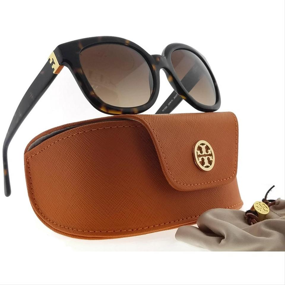 799840755 Tory Burch TY7104-137813-54 Cat Eye Women's Tortoise Frame Brown Lens  Sunglasses Image. 123456