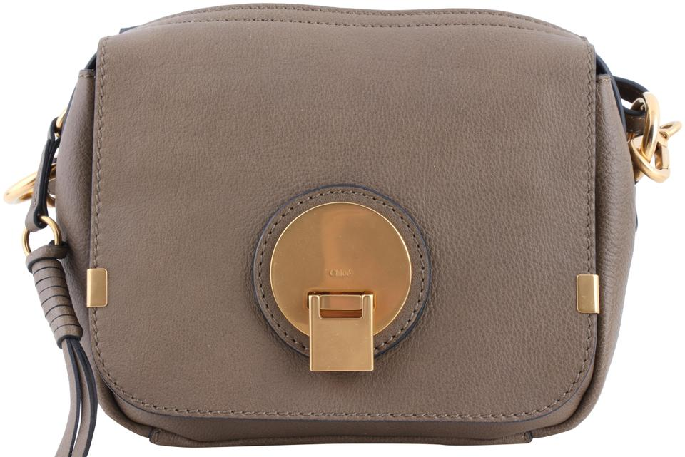 211767ce241 Chloé Small Indy Camera Grey Calfskin Leather Shoulder Bag - Tradesy