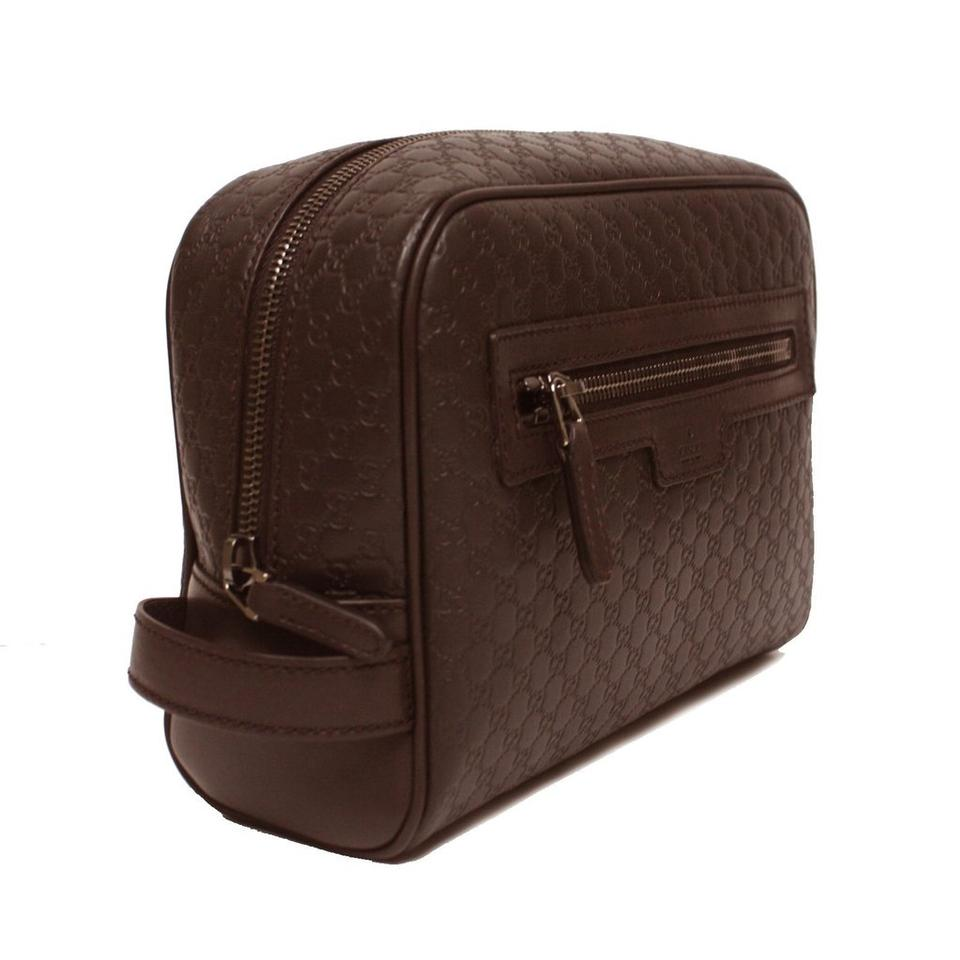 1954a5f6d506 Gucci Toiletry Men's Micro Gg Guccissima Large Y1977 Brown Leather ...