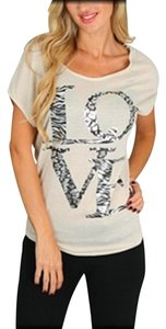 Rags in Motion Love Animal T Shirt Beige