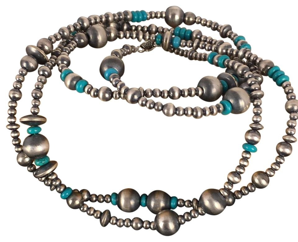3f9d563ae Silver Turquoise Navajo Pearls Sterling 48