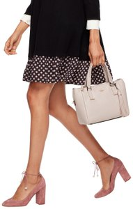 Kate Spade Kingston Drive Small Alena Satshel/Shoulder Pebbled Leather Satchel in Bleach Bone