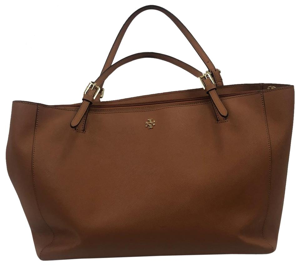 ded18ae9a51 Tory Burch York Tote Brown Leather Laptop Bag - Tradesy