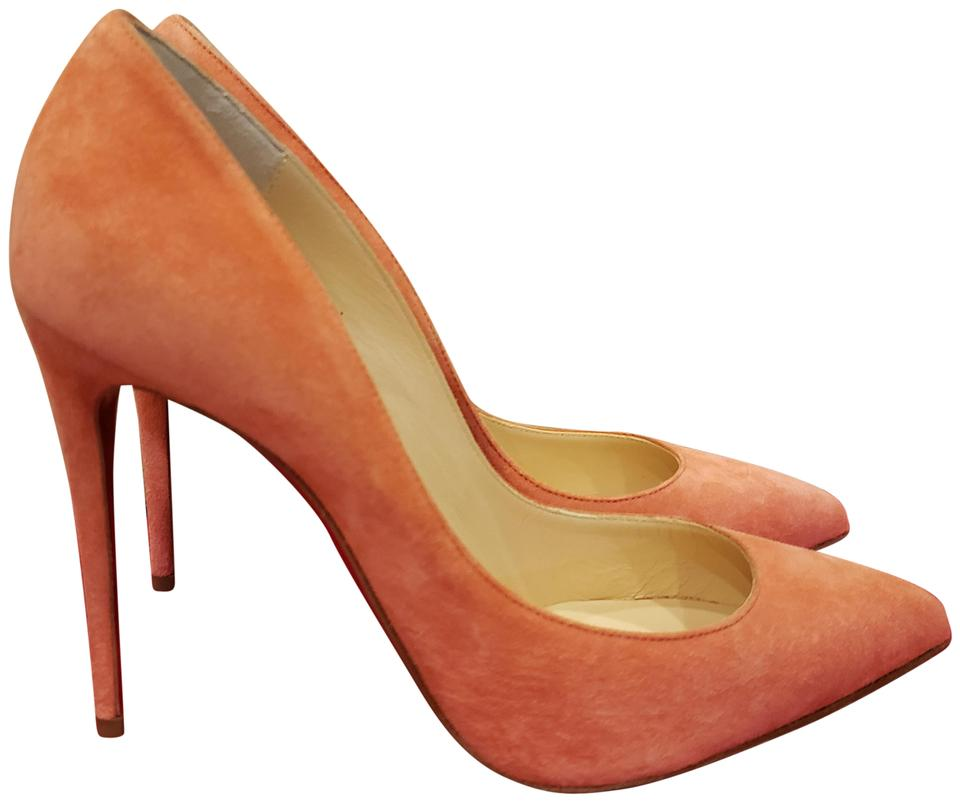 best loved f5316 8d053 Christian Louboutin Charlotte (Peachy Pink) Pigalle Follies 100 Suede Heels  Pumps Size EU 37.5 (Approx. US 7.5) Regular (M, B) 19% off retail