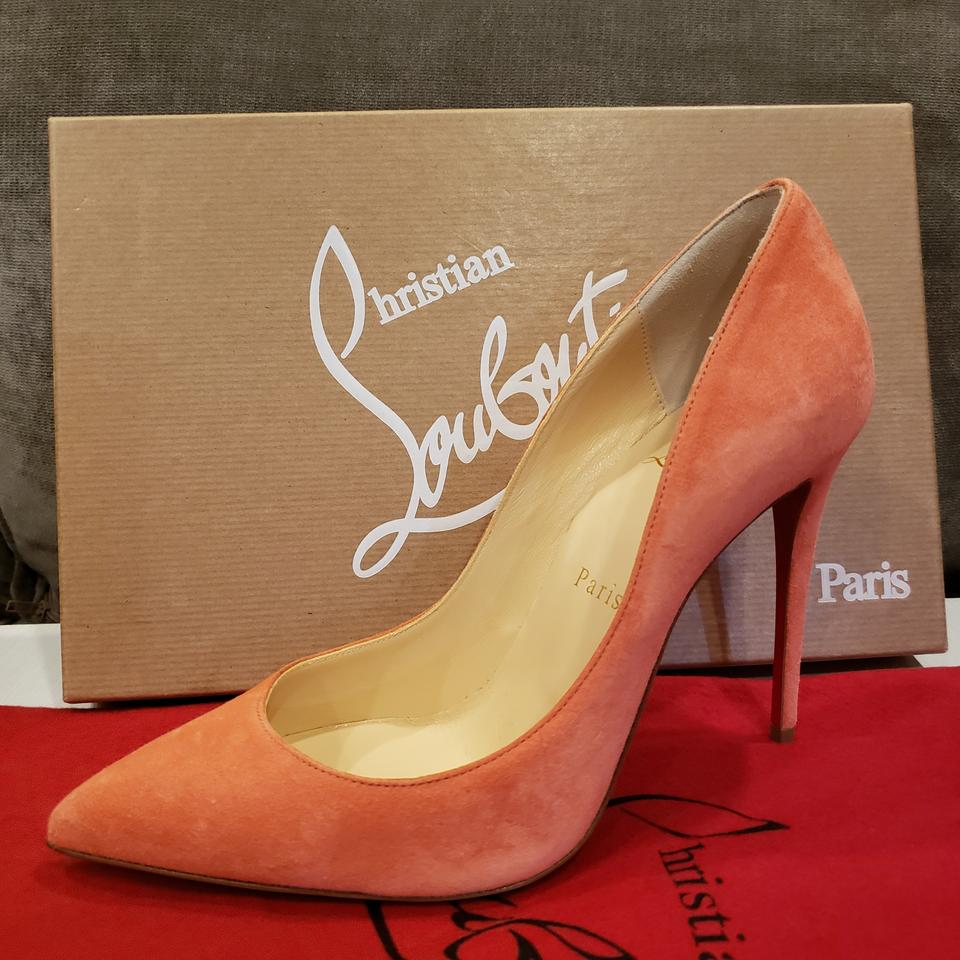 c69365aaa7fb Christian Louboutin Stiletto Pigalle Follies Heels Suede Charlotte (Peachy  Pink) Pumps Image 11. 123456789101112