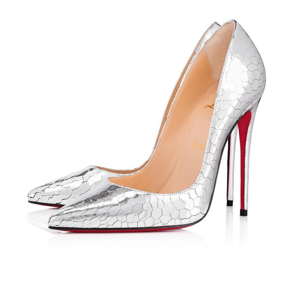 size 40 23aea 95a4b Christian Louboutin Silver So Kate 120 Metallic Mirrored Leather Pumps Size  EU 35.5 (Approx. US 5.5) Regular (M, B) 8% off retail