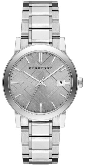Burberry Small Check Stamped Bracelet Watch BU9035 Image 0