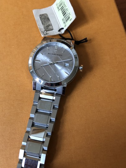 Burberry Small Check Stamped Bracelet Watch BU9035 Image 3