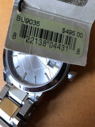 Burberry Small Check Stamped Bracelet Watch BU9035 Image 6