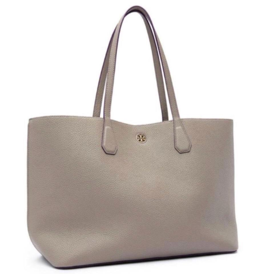 dd70e79bdcd Tory Burch Perry Grey Leather Tote - Tradesy