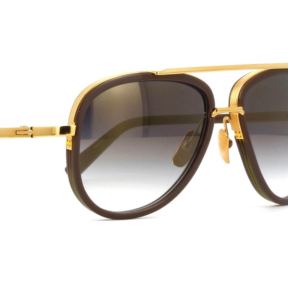 580ccb8893 Dita Stone Grey Mach Two Drx 2031 18k Gold Aviator with Flash Gold ...
