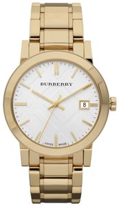 Burberry Men's Swiss Gold Ion-Plated Stainless Steel Bracelet 38mm BU9003