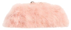 Ted Baker Metal Frame Logo Jacquard Lining Feather Evening Light Pink Clutch