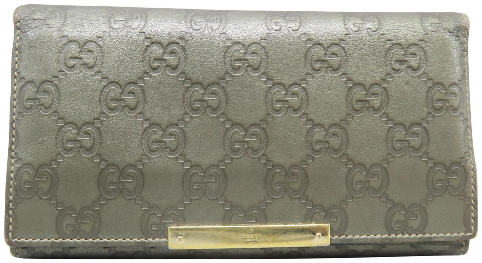 1aabed2f1c6 Gucci Grey Signature Leather Wallet - Tradesy