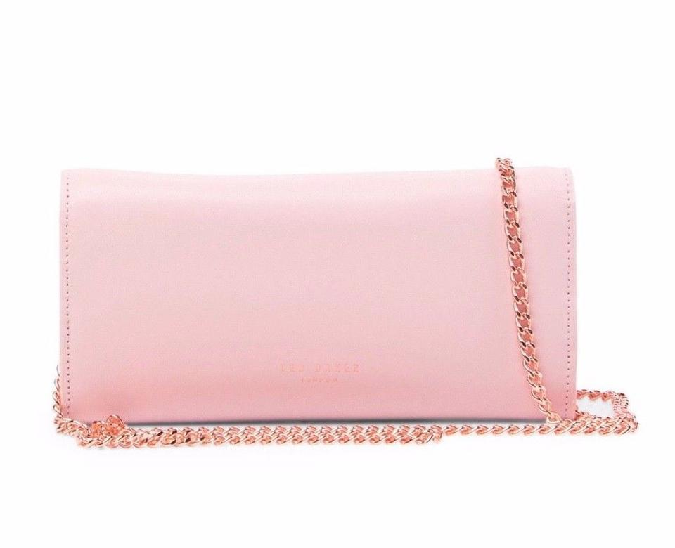 70f356d767 Ted Baker Wallet on Chain Natalie Metal Bar Matinee Pink Leather ...