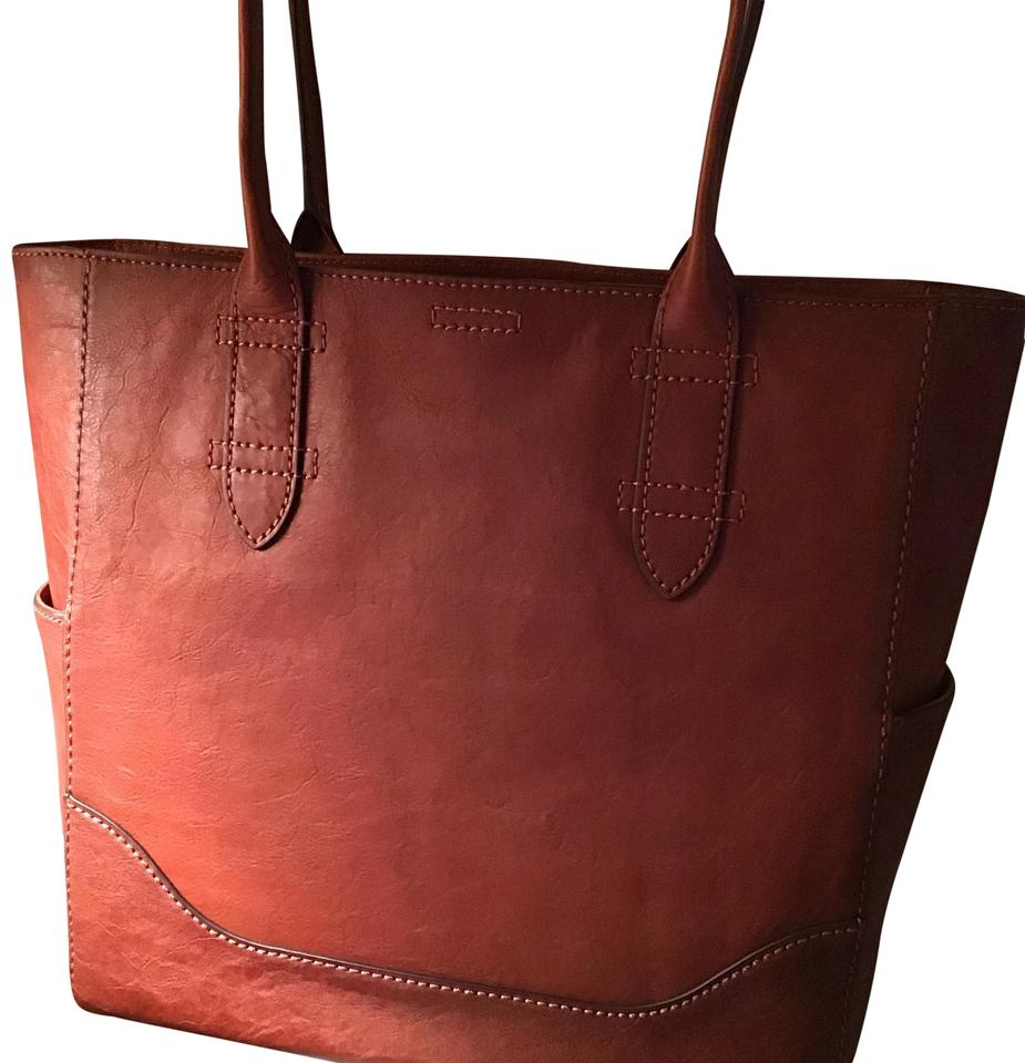 df282d7125 Frye North South with Zip-top In Cognac Leather Tote - Tradesy