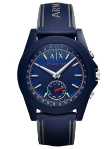 A|X Armani Exchange AX Armani Exchange Connected Unisex Blue Silicone Smartwatch AXT1002