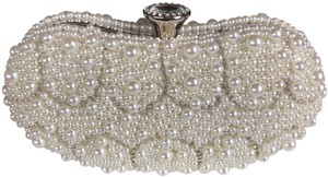 Crystal Collection Ivory pearl and rhinestone Clutch