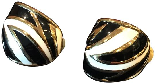 Preload https://img-static.tradesy.com/item/24571367/gold-black-and-white-lacquer-clip-on-earrings-0-1-540-540.jpg
