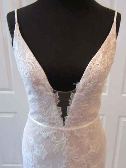 Hayley Paige Ivory/Nude/Cashmere Lace Frida Feminine Wedding Dress Size 4 (S) Image 5