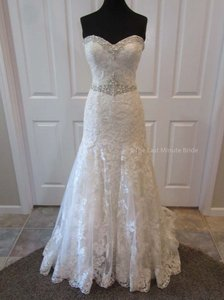 c58c75357d4 Justin Alexander Sand Ivory Lace 9771 Feminine Wedding Dress Size 10 (M)