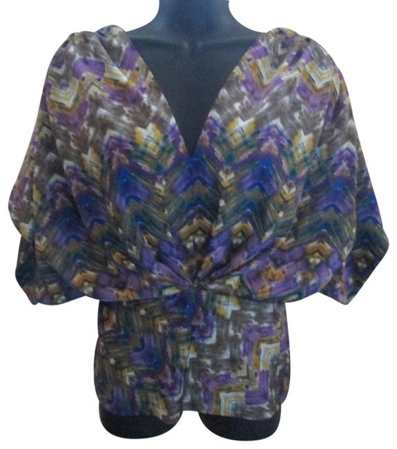 Preload https://img-static.tradesy.com/item/24571583/anthropologie-multicolored-fei-geo-feather-blouse-size-2-xs-0-1-650-650.jpg