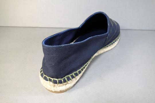 Chanel Navy Blue & Green Flats Image 9