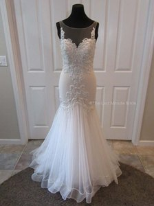 Sottero and Midgley Ivory/Nude Lace Khloe 8sc512 Feminine Wedding Dress Size 12 (L)