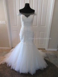 Sottero and Midgley Ivory Lace Cassandra 5sc640 Feminine Wedding Dress Size 12 (L)