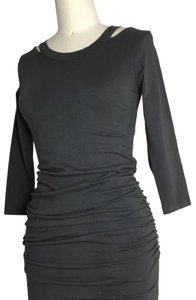 michael stars short dress gray 3/4 Sleeve Ruched Ruched Jersey Ruched Midi Long Sleeve Jersey on Tradesy