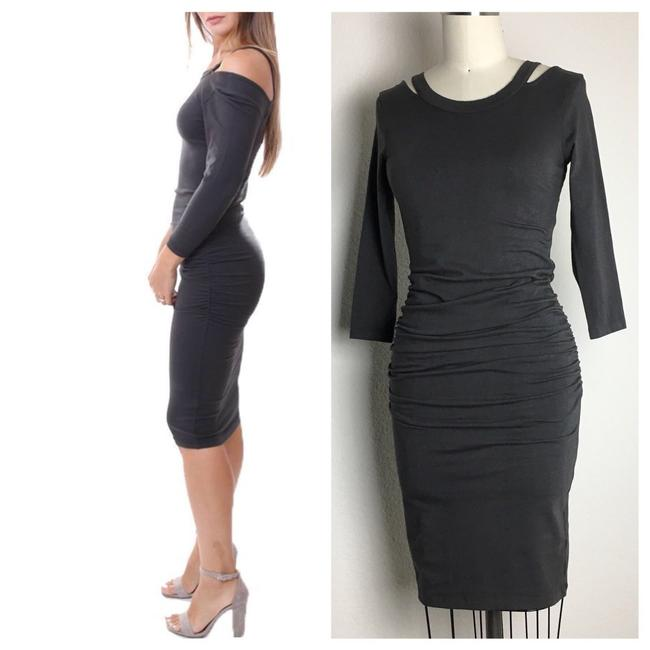 michael stars short dress gray 3/4 Sleeve Ruched Ruched Jersey Ruched Midi Long Sleeve Jersey on Tradesy Image 1
