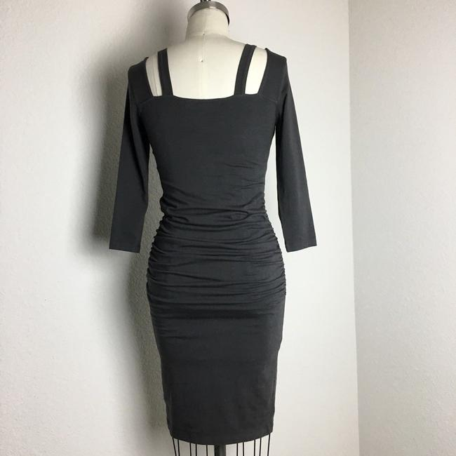 michael stars short dress gray 3/4 Sleeve Ruched Ruched Jersey Ruched Midi Long Sleeve Jersey on Tradesy Image 4
