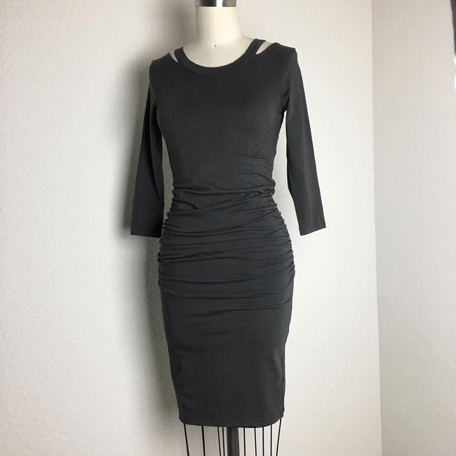 michael stars short dress gray 3/4 Sleeve Ruched Ruched Jersey Ruched Midi Long Sleeve Jersey on Tradesy Image 5