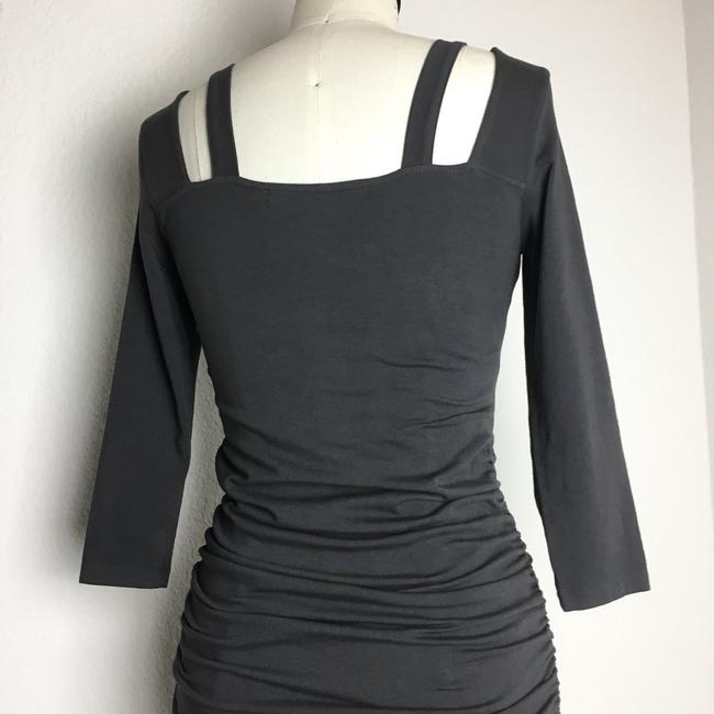 michael stars short dress gray 3/4 Sleeve Ruched Ruched Jersey Ruched Midi Long Sleeve Jersey on Tradesy Image 7
