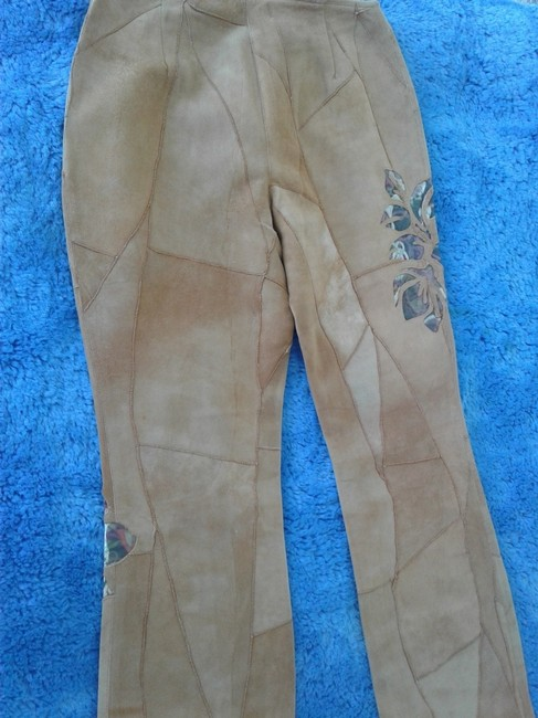 Milona New Suede Not Lined Zipped Made In Italy Trouser Pants beige Image 1
