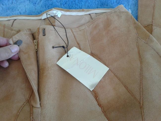 Milona New Suede Not Lined Zipped Made In Italy Trouser Pants beige Image 2