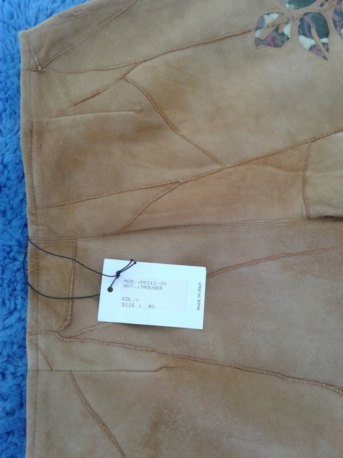 Milona New Suede Not Lined Zipped Made In Italy Trouser Pants beige Image 3