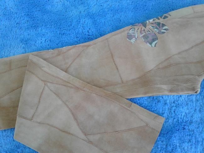 Milona New Suede Not Lined Zipped Made In Italy Trouser Pants beige Image 4