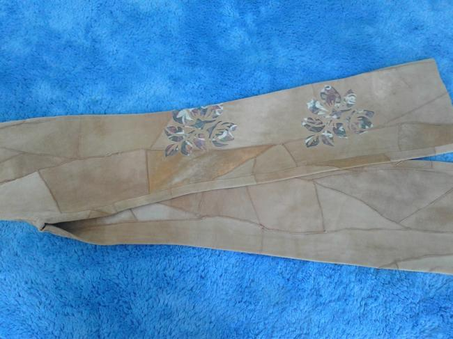 Milona New Suede Not Lined Zipped Made In Italy Trouser Pants beige Image 6