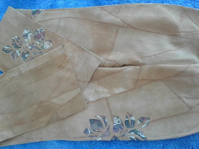 Milona New Suede Not Lined Zipped Made In Italy Trouser Pants beige Image 7