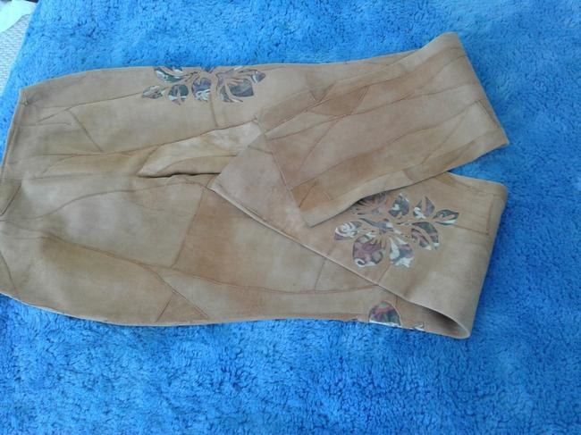 Milona New Suede Not Lined Zipped Made In Italy Trouser Pants beige Image 8