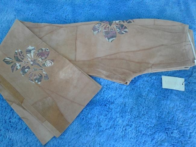 Milona New Suede Not Lined Zipped Made In Italy Trouser Pants beige Image 9
