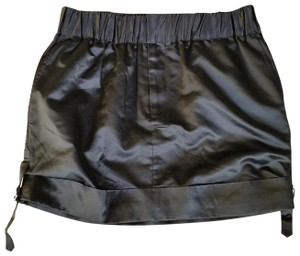 Club Monaco #miranda #silk #satin Mini Skirt Black