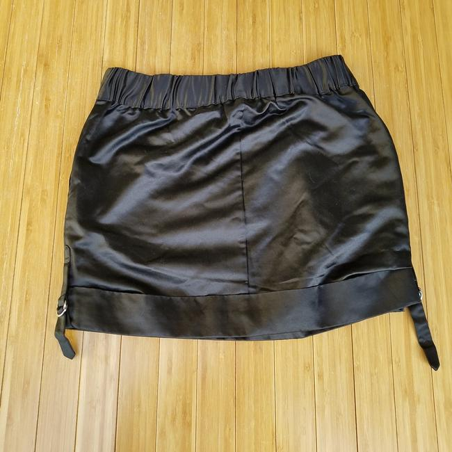 Club Monaco #miranda #silk #satin Mini Skirt Black Image 1